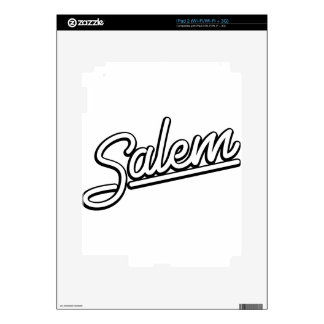 Salem neon sign in white decal for iPad 2