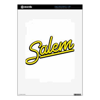 Salem neon sign in yellow iPad 2 decal