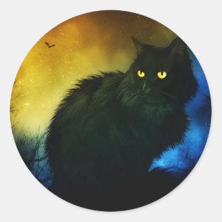Salem Night Classic Round Sticker