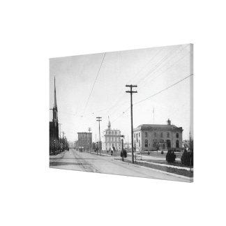 Salem, O fotografía de la calle del estado de la o Lienzo Envuelto Para Galerías