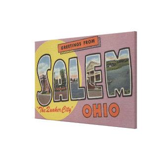 Salem, Ohio (la ciudad del Quaker) Lienzo Envuelto Para Galerias
