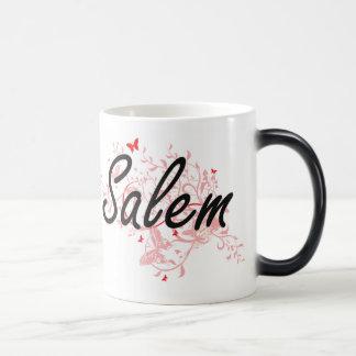 Salem Oregon City Artistic design with butterflies Magic Mug