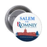 Salem Oregon para el botón de Mitt Romney Pins