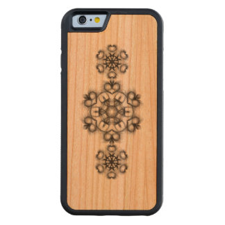 SALEM ROGELIO: caja de madera de la cereza de Funda De iPhone 6 Bumper Cerezo