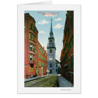 Salem Street View of Old North Church Bldg # 2 Card