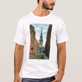 Salem Street View of Old North Church Bldg # 2 T-Shirt