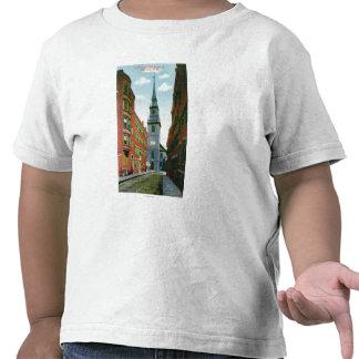 Salem Street View of Old North Church Bldg # 2 T Shirt