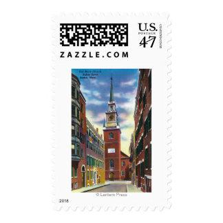 Salem Street View of Old North Church Bldg Stamp