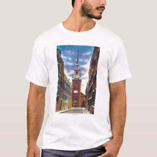 Salem Street View of Old North Church Bldg T-Shirt