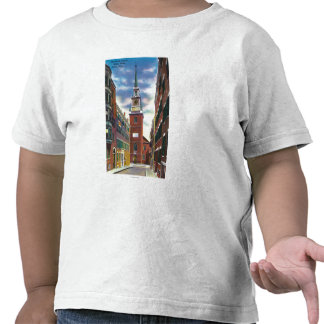 Salem Street View of Old North Church Bldg Tee Shirt