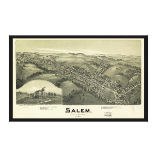 Salem West Virginia (1899) Canvas Print