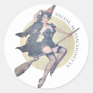 Salem Witch Classic Round Sticker