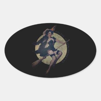Salem Witch Oval Sticker