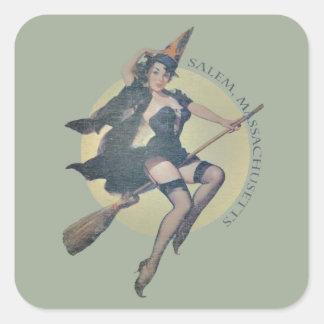 Salem Witch Square Sticker