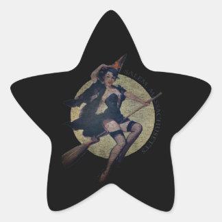 Salem Witch Star Sticker