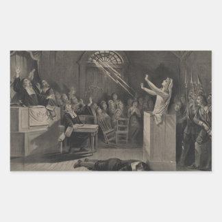 Salem Witch Trial Illustration Rectangular Sticker