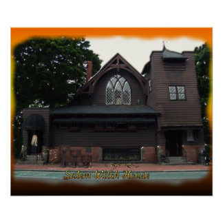 Salem Witches House Poster