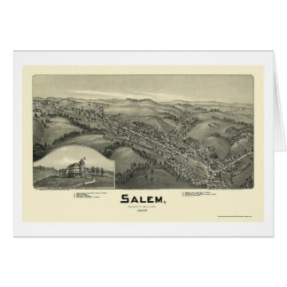 Salem, WV Panoramic Map - 1899 Card
