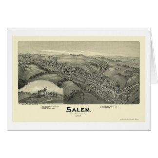 Salem, WV Panoramic Map - 1899 Cards