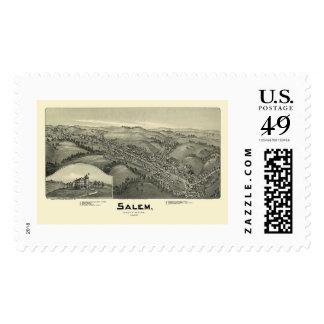 Salem, WV Panoramic Map - 1899 Postage
