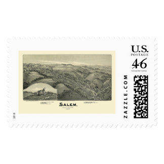 Salem, WV Panoramic Map - 1899 Postage Stamps
