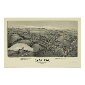 Salem, WV Panoramic Map - 1899 Poster