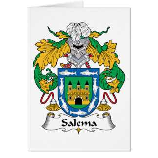 Salema Family Crest Greeting Cards