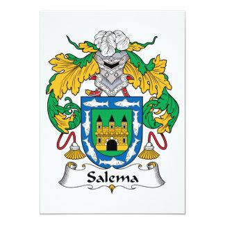 Salema Family Crest 5x7 Paper Invitation Card