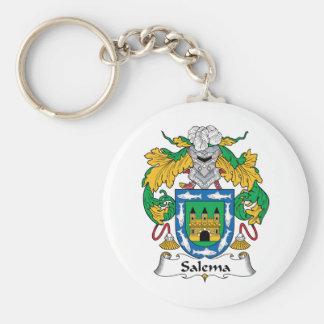 Salema Family Crest Basic Round Button Keychain