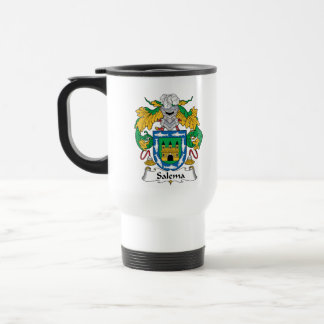 Salema Family Crest 15 Oz Stainless Steel Travel Mug