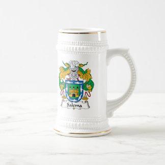Salema Family Crest 18 Oz Beer Stein