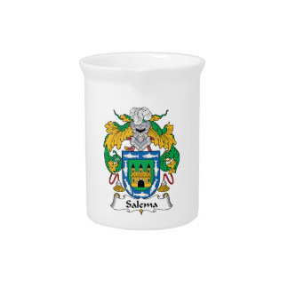 Salema Family Crest Drink Pitcher