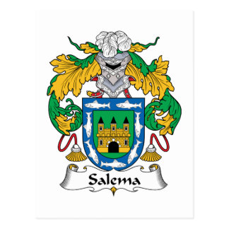 Salema Family Crest Postcard