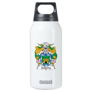 Salema Family Crest 10 Oz Insulated SIGG Thermos Water Bottle
