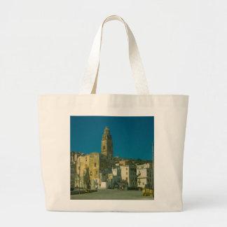 Salerno, iglesia y ciudad bolsas lienzo