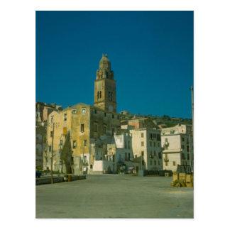 Salerno, iglesia y ciudad tarjetas postales
