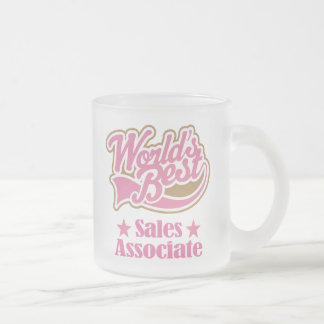 Sales Associate Gift Idea Frosted Glass Coffee Mug