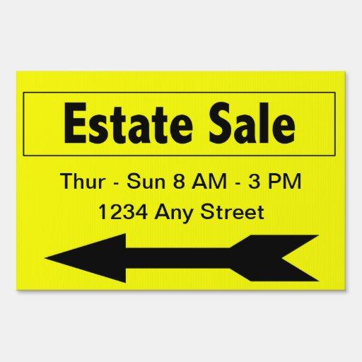 Sales Booster Estate Sale Yard Sign Signs