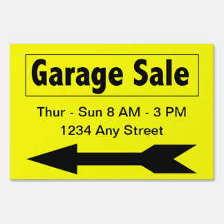 Sales Booster Garage Sale Yard Sign