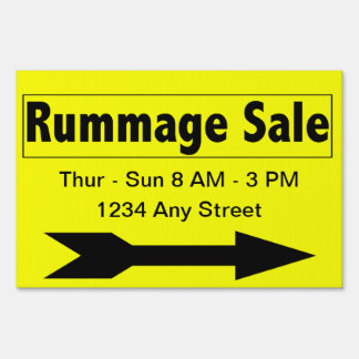 Sales Booster Rummage Sale Yard Sign