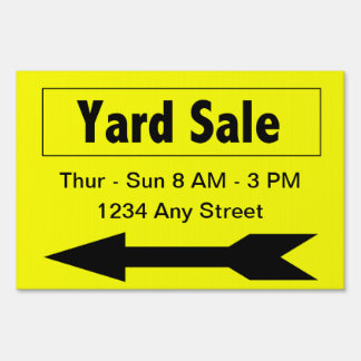 Sales Booster Yard Sale Yard Sign