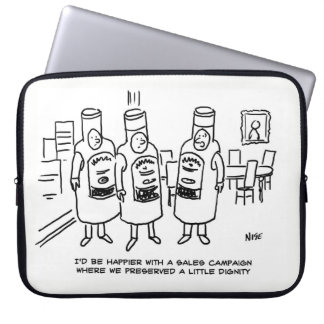 Sales Campaign Lacking in Dignity Laptop Sleeve