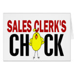 Sales Clerk's Chick Cards
