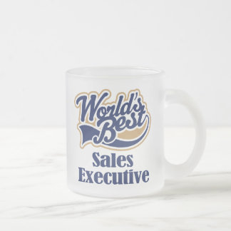 Sales Executive Gift Frosted Glass Coffee Mug