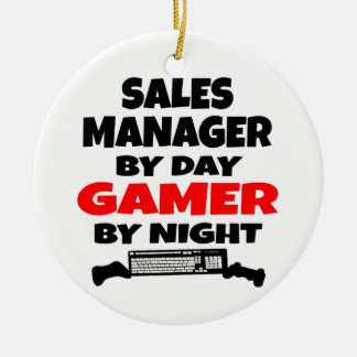 Sales Manager Gamer Ceramic Ornament