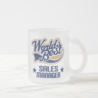 Sales Manager Gift (Worlds Best) Frosted Glass Coffee Mug