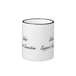 Sales Support Executive Artistic Job Design Ringer Coffee Mug