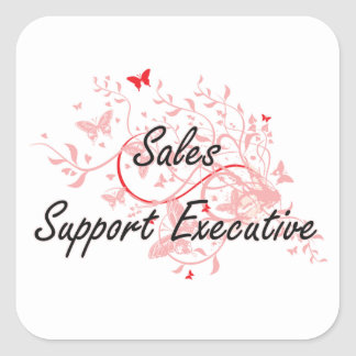 Sales Support Executive Artistic Job Design with B Square Sticker