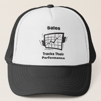 Sales Tracks Their Performance Trucker Hat