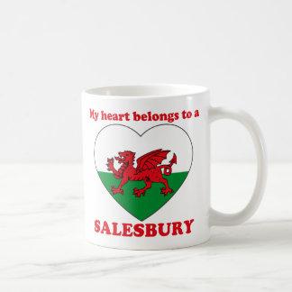 Salesbury Classic White Coffee Mug